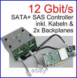 12Gb/S PCIe x8 SAS SATA RAID CONTROLLER A3C40174126 SFF-8643 2x BACKPLANES V144