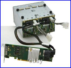 12Gb/S PCIe x8 SAS SATA RAID CONTROLLER SFF-8643 CP400i 2x BACKPLANE 8x HDD V144