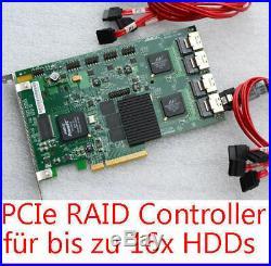16x SATA RAID PCIe CONTROLLER LSI 3WARE 9650SE-12/16ML FÜR 8x HDDs BIS 4 TB HDD