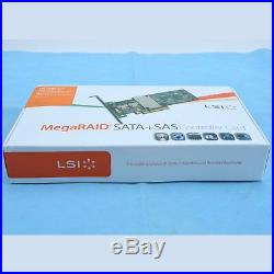 1PC New LSI MegaRAID 9261-8i 8-port PCI-E 6Gb/s SATA/SAS RAID Controller Card