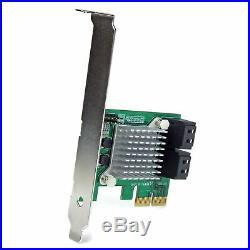 4 Port PCI Express 2.0 SATA III 6Gbps RAID Controller Card HyperDuo SSD Tiering