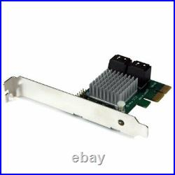 4 Port Pci Express Sata Iii Raid Controller Card /W Heatsink NEW