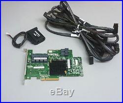 ADAPTEC 72405 1GB 24-Port SAS SATA PCIe Gen3 RAID AFM-700cc & 6x HD SAS Cables