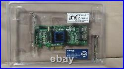 Adaptec ASR-6805E 8-Port RAID Controller Karte PCIe SATA/SAS mit vier Kabel