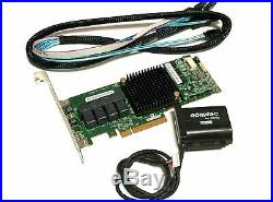 Adaptec ASR 71605 1GB 16Port PCIe Raid with Battery & 4x Cables SFF-8643 to SATA