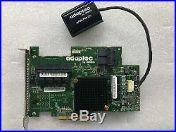 Adaptec ASR-72405 1GB Cache 6Gb/s SAS SATA PCIe Gen 3 RAID Controller + battery