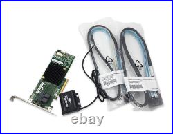 Adaptec ASR-7805 1G Cache PCIe SAS SATA 6GBs RAID 0156 Adapter Card with cables