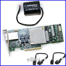 Adaptec ASR-8885 12Gb/s 16-port PCIe SAS/SATA RAID Adapter (with Battery + Cables)