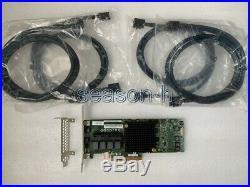Adaptec Asr-71605e 6gb/s Pci-e 256mb SATA Sas Raid Controller Card+8643-8643