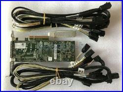 Adaptec Asr-71605e 6gb/s Pci-e 256mb SATA Sas Raid Controller Card+8643-sata4