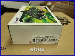 Areca ARC-1280D-ML 1280ML 24-port Internal PCIe SATA II RAID Controller