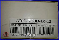 Areca ARC-1680IX 12-Port PCIe X8 SATA SAS RAID Card 71-1680D1-1X10-12 + 1G RAM