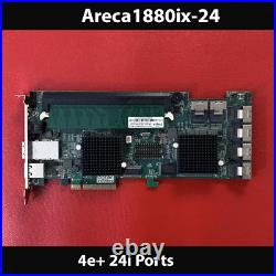 Areca ARC-1880IX-24 1GB Cache PCIe 4e+24i Ports 6Gb/s SAS/SATA RAID Card