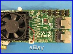 Areca ARC-1880IXL-12 6Gb/s 12-Port SAS/SATA PCIE X8/X16 RAID Adapter LP Bracket