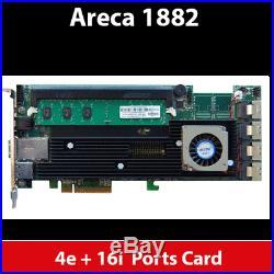 Areca ARC-1882IX-16 4GB Cache PCIe 3.0 x8 4 + 24 Ports 6Gb/s SAS/SATA RAID Card
