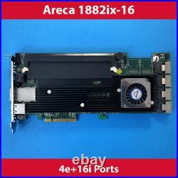 Areca ARC-1882IX-16 4GB Cache PCIe 3.0 x8 4e + 16i Ports SAS/SATA RAID Card