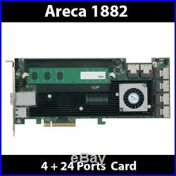 Areca ARC-1882IX-24 4GB Cache PCIe 3.0 x8 4 + 24 Ports 6Gb/s SAS/SATA RAID Card