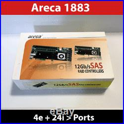 Areca ARC-1883IX-24 8GB Cache PCIe 3.0 12Gb/s SAS SATA RAID Controller
