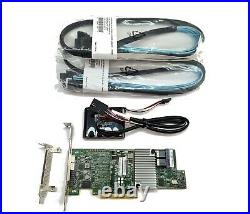 Broadcom LSI Megaraid 9361-8i 1GB PCIe x8 RAID Card 12Gbps CVM02 / 2x sata cable
