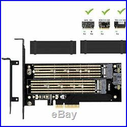 Dual M. 2 RAID Controllers PCIE Adapter For SATA NVMe SSD With Advanced Heat Sink