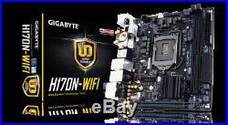 GIGABYTE GA-H170N-WIFI LGA 1151 (6th/7th Gen), SATA 6Gb/s, RAID, PCIe 3.0