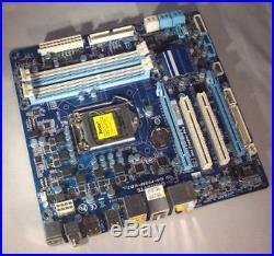 Gigabyte GA-P55M-UD2 GA P55M UD2 Mainboard Sockel 1156 PCI PCIe SATA RAID +Zub