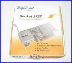 High Point External 8-Port PCI-Express 2.0 x8 SAS/SATA 6Gb/s Non-RAID Controller