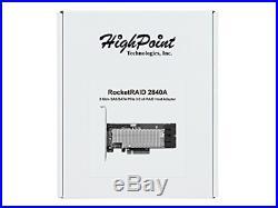 High Point RocketRAID 2840A PCIe 3.0 x8 16-Channel 6Gb/s SAS/SATA RAID Host Bus