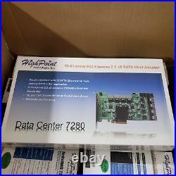 HighPoint Rocket RAID Data Center 7280 32 SATA Port PCIe 2.0 X8 HBA Controller