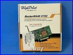 HighPoint RocketRAID 2722 PCI-Express 2.0 x8 Low Profile SATA / SAS RAID Control