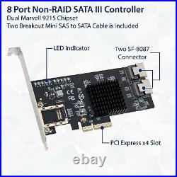 IO Crest 8 Port SATA III Non-RAID PCI-e x4 Controller Card Supports FreeNAS a