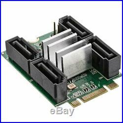 InLine 19319M. 2Mini-PCIe 2.0Card, 4X SATA 6Gbs, RAID 0, 1, 10, JBOD, Blac