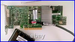 Intel RS3DC040 LSI MegaRAID SAS9361-4i 1GB 12Gb SAS2 SATA3 RAID 5,6, JBOD CV+CAP