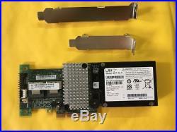 LSI 9260-8i SAS SATA 8-port PCI-E 6Gb RAID Controller Card + BBU08 Battery US