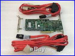 LSI 9265CV-8i 1GB 8Port PCIE 2.0 SATA controller raid card+2 8087 to 4x 8482