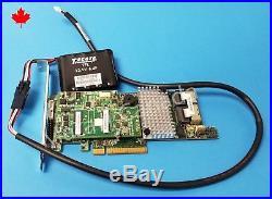 LSI 9266-8i L3-25413-05A 8 Port SAS SATA 6Gb PCIe RAID 00295 with Battery 49571-01
