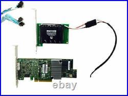 LSI 9361-8i 12gbs Raid Controller with SAS3 Cables +BBU 3108