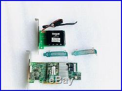 LSI 9361-8i SAS SATA 1GB PCI-E 12Gb RAID Card +CVM02 1GB Bracket Bare + Battery