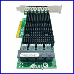 LSI IT Mode 12GB 16-Port SAS SATA NVME 9400-16i PCIe 3.1 JBOD RAID Controller