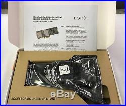 LSI MegaRAID 9280-8e LSI00205 MegaRAID 8-Port Ext. 6Gb/s PCIe SAS/SATA RAID ADAP