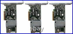 Lot 3x LSI 9750-4i 4-port PCI-E SATA/SAS RAID Controler Card Adapter
