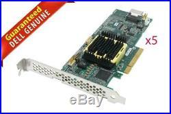 Lot of 5 Adaptec ASR-2405 SAS SATA 4 port 3 GB /s 8x PCIE 2405 128 RAID Adapter