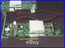 Lot of 9 Dell HV52W PERC H310 PCIe x8 SAS SATA 6Gb RAID Card & Cables MJVMK
