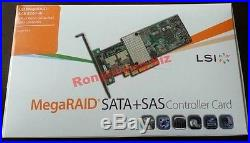 NEW IN BOX LSI MegaRAID 9261-8i 8-port PCI-E 6Gb/s SATA/SAS RAID Controller