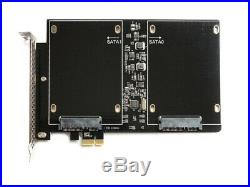 NEW PCIe Dual Slot SSD Adapter 700MB/s RAID0 2.5 SATA III Karte Apple Mac Pro