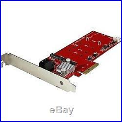 NEW! Startech 2X M. 2 Ngff Ssd Raid Controller Card Plus 2X Sata Iii Ports Pcie T