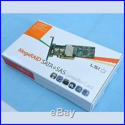 New 1pc LSI MegaRAID 9261-8i 8-port PCI-E 6Gb/s SATA/SAS RAID Controller Card