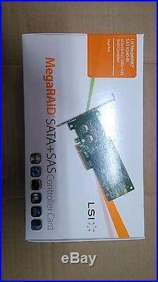 New LSI SAS 9240-8i 6Gbps 8 Ports SAS/SATA 8-Port PCI-e RAID Controller Card