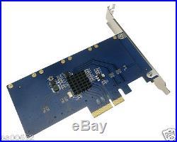 PCI-e x4 to Quad mSATA mini-SATA SSD Controller RAID 0 1 10 Marvell HyperDuo