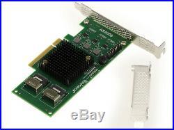 PCIe 2.0 SAS SATA 6G 8 Ports CHIPSET Marvell 88SE9458 Raid 0 1 5 10 50 JBOD